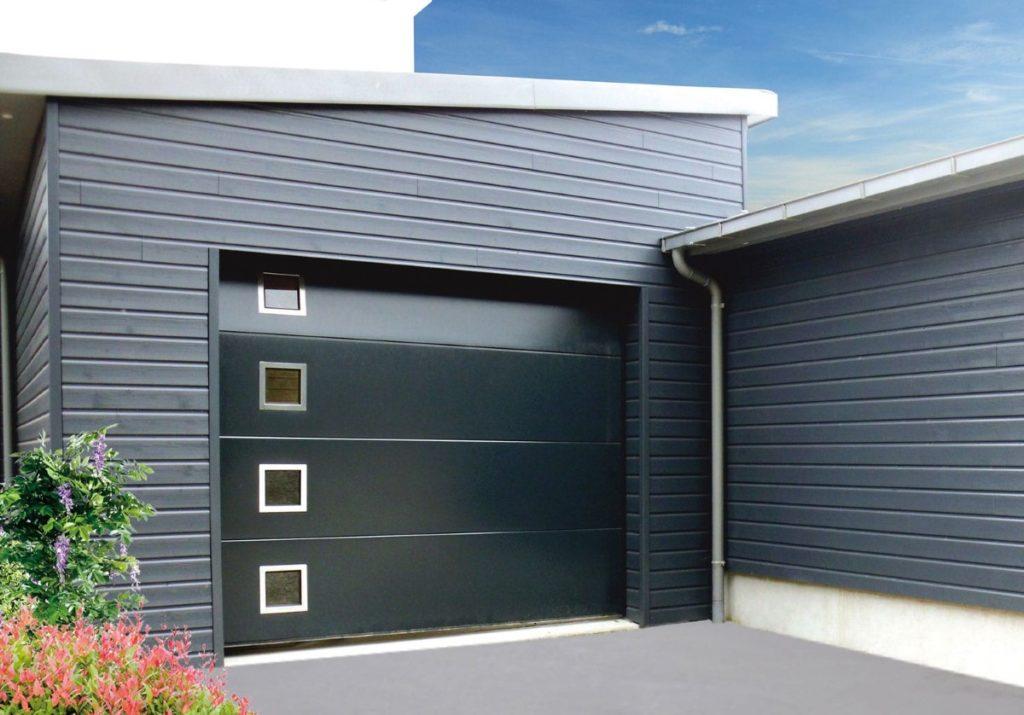 FG HABITAT PORTAIL NOIRMOUTIER EN L ILE Garage Porte Garage Sectionnelle Hublot Carre 97